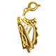 Lap Harp Charm